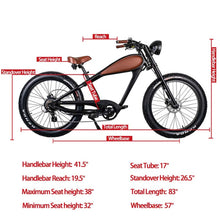 Load image into Gallery viewer, Revi Bikes CHEETAH - CAFÉ RACER Fat tire E-Bike - 750W