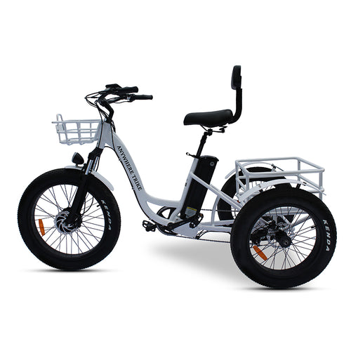 Anywhere 3 Wheel Fat Tire Step through Rugged Edition E Trike 500W