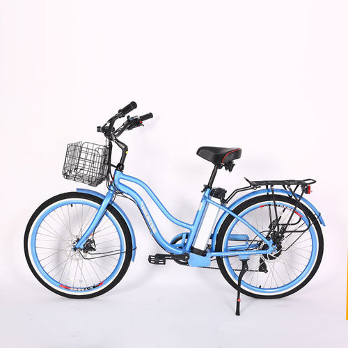 XTreme Malibu Elite 24 Volt Beach Cruiser Step Through Electric Bicycle - 300W