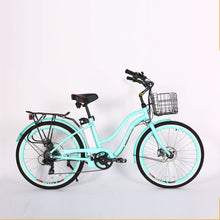Load image into Gallery viewer, XTreme Malibu Elite 24 Volt Beach Cruiser Step Through Electric Bicycle - 300W