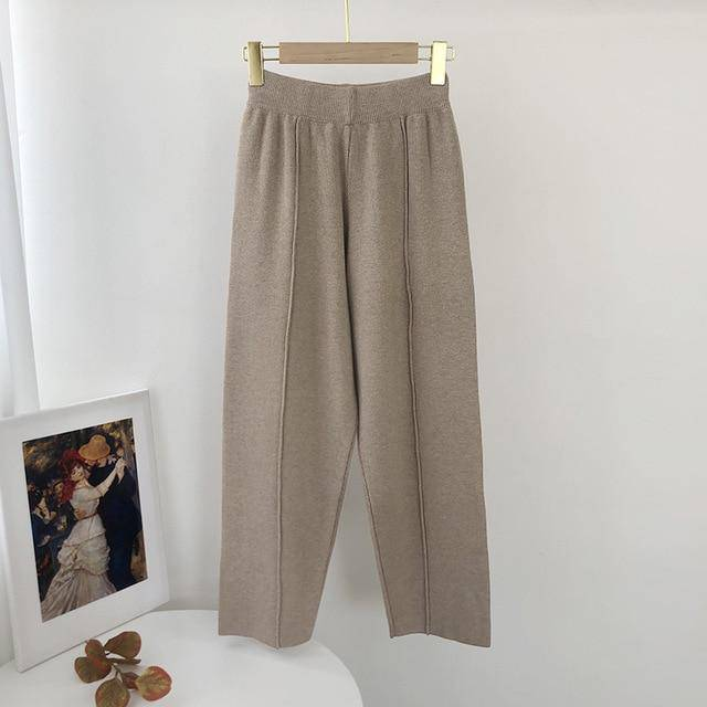 High Waisted Elastic Casual Loose Pants