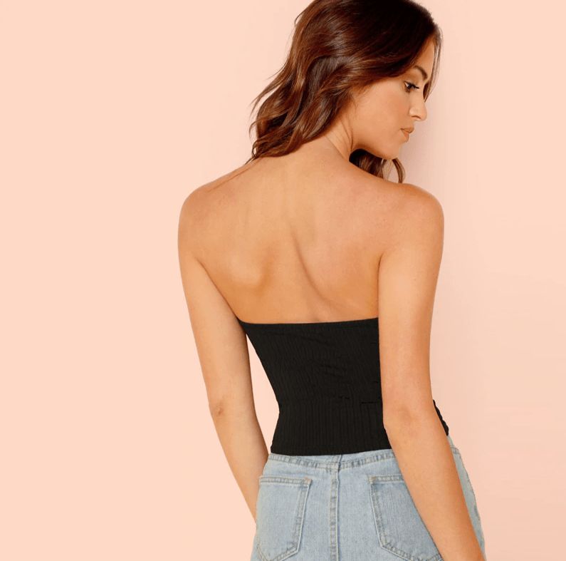 Essential Ribbed Strapless Top