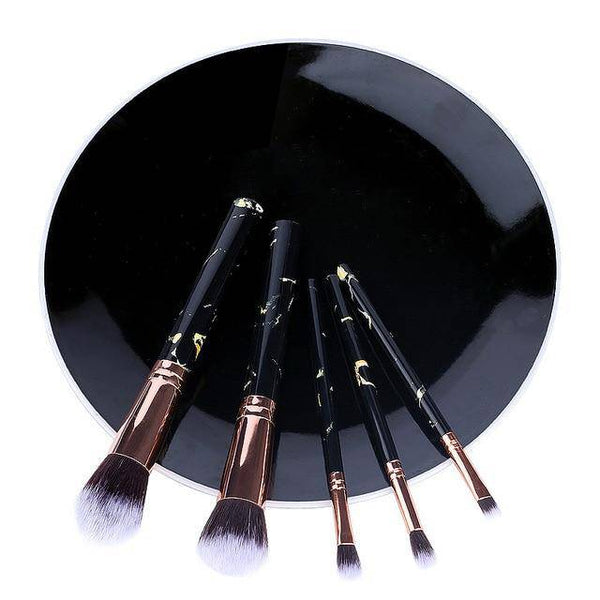5/10pcs Set Of Makeup Fan Brushes Marble