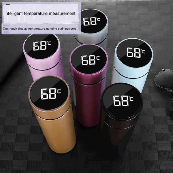 Intelligent Stainless Steel Thermos Bottle Cup Temperature Display