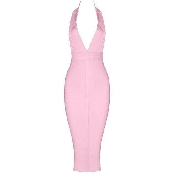 V-neck Bodycon Bandage Dress