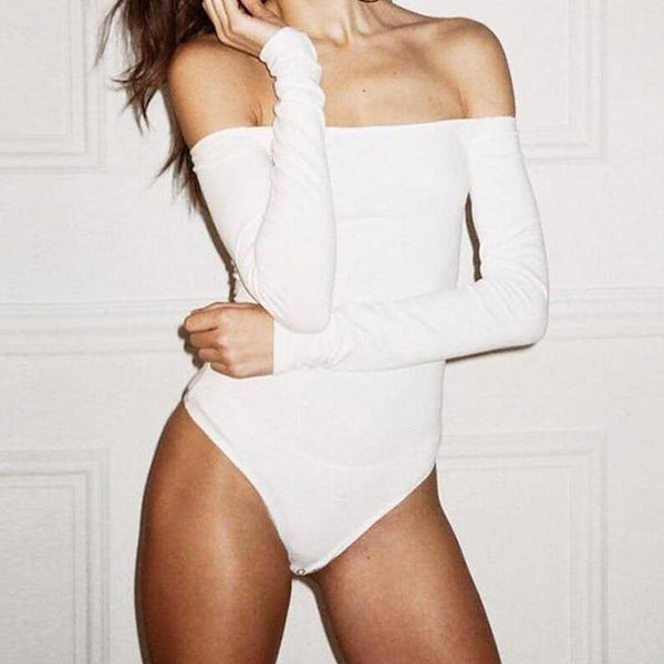 Off Shoulder Long Sleeve Bodysuit