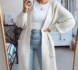 Luxury Basic Knitted Long Cardigan