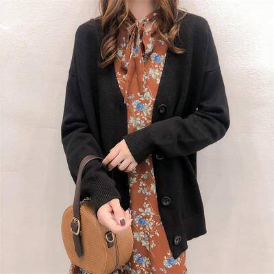 Sweater Style Long Sleeve Cardigan