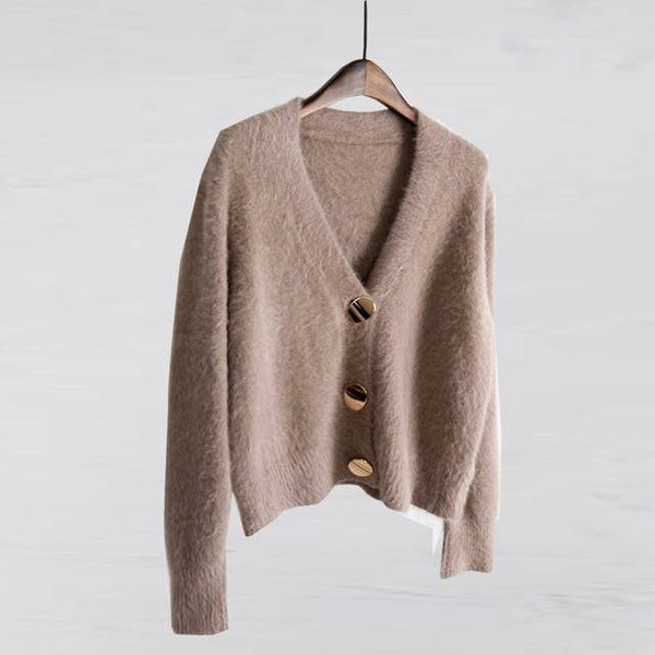 Cardigans V-neck Soft Knitted Outwear