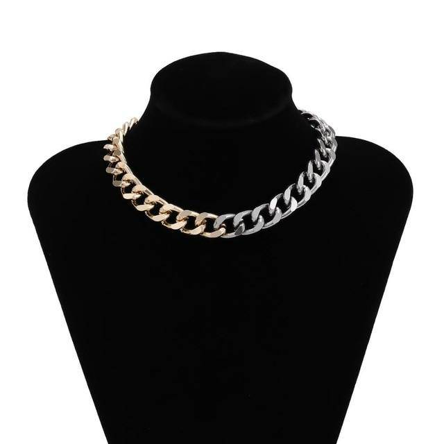 Thick Chain Chunky Choker Collar