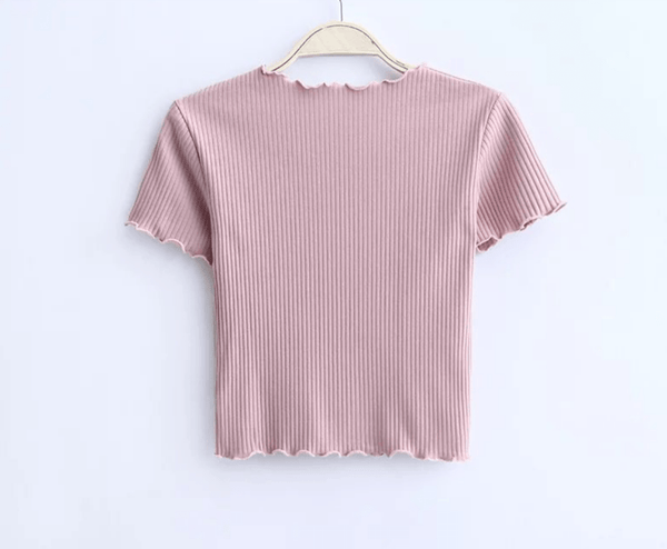 Slim Fit Basic Crop Top