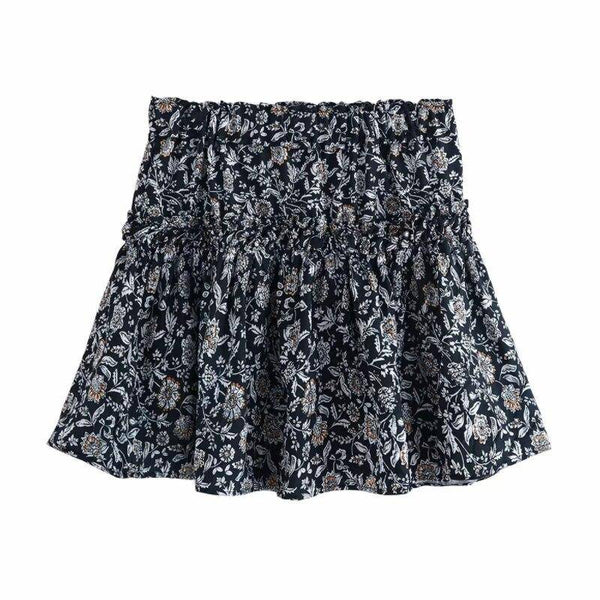 Pleated Mini Ruffled Skirts