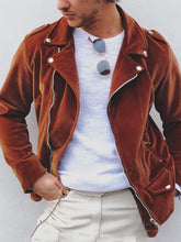 Load image into Gallery viewer, Men's fashion casual solid color zipper jacket