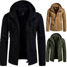 Load image into Gallery viewer, New Men's Hooded Cotton Cardigan Jacket