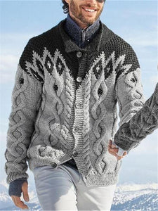 Fashion Men's Color Matching Sweater