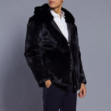 Load image into Gallery viewer, Faux Fur Zipper Autumn And Winter Mens Jacket