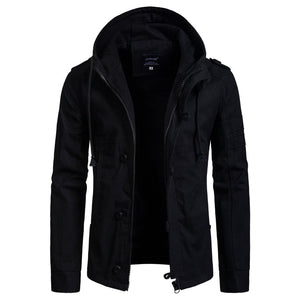 New Men's Hooded Cotton Cardigan Jacket