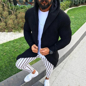 Fashion Solid Color Hooded Long-Sleeved Slim Sweaters
