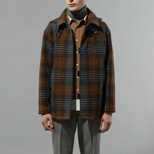 Load image into Gallery viewer, Vintage?Plaid A Lapel Men Coat