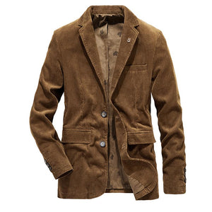 Casual Pure Color Lapel Long Sleeve Blazer