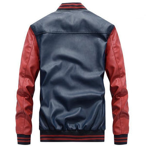 Casual  PU Jacket Baseball Stand New Tide Men's Leather