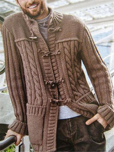 Fashion Men's Solid Color Sweater