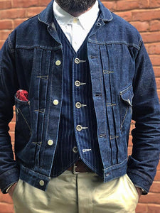 Men's Single Breasted Denim Jacket