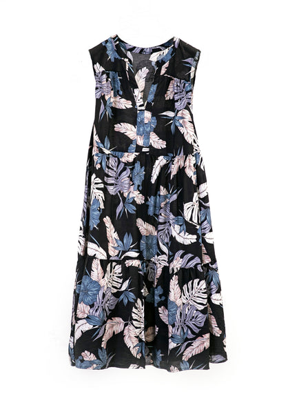 Black and Blue Floral Summer Dress Canada
