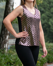 Load image into Gallery viewer, Gold Sequin Sleeveless Top for Sale - Moon Evening Shirt