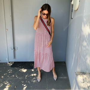 Red Striped Summer Dress and Tie-Neck Summer Dresses Online