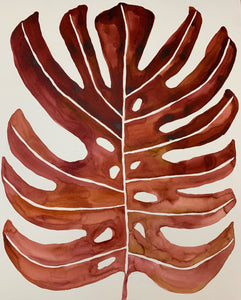 Red Fade Monstera 24x30