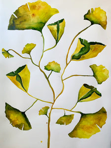 Ginko Leaves 40x55