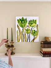 Load image into Gallery viewer, Green Floral 18x20