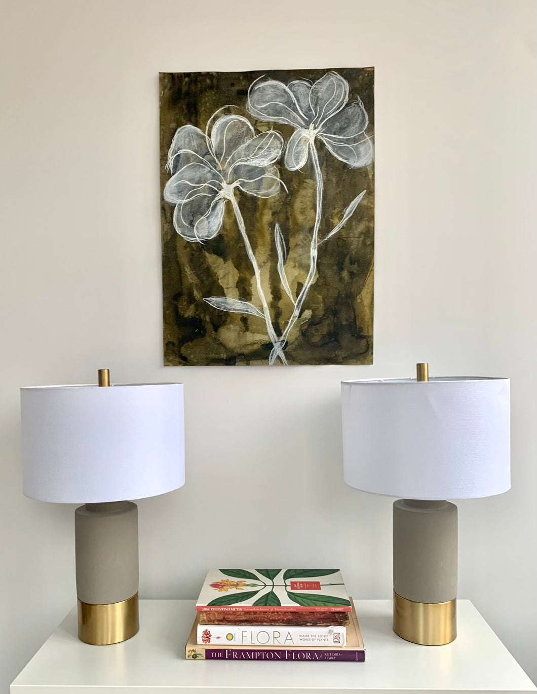 Sepia Floral Duo 22x30