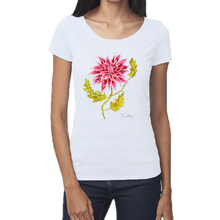 Load image into Gallery viewer, Pink Pointed Dhalia Femme Scoop Neck Tee