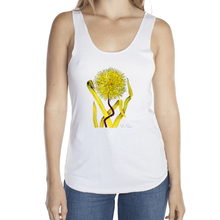 Load image into Gallery viewer, Grassy Dandelion Femme Racerback Tank