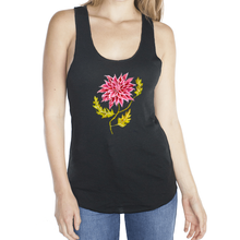 Load image into Gallery viewer, Pink Pointed Dhalia Femme Racerback Tank