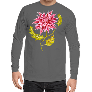 Pink Pointed Dhalia Unisex Long Sleeve