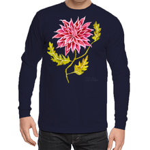 Load image into Gallery viewer, Pink Pointed Dhalia Unisex Long Sleeve