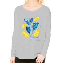 Load image into Gallery viewer, Autumn Bluebell Femme Scoop Neck Longsleeve