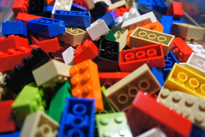 50 Lego® 2x4 Bricks Mixed Colours - Part No 3001