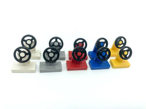 Lego Vehicle, Steering Stand 1 x 2 Part No: 3829c01 Mixed Colours x 10