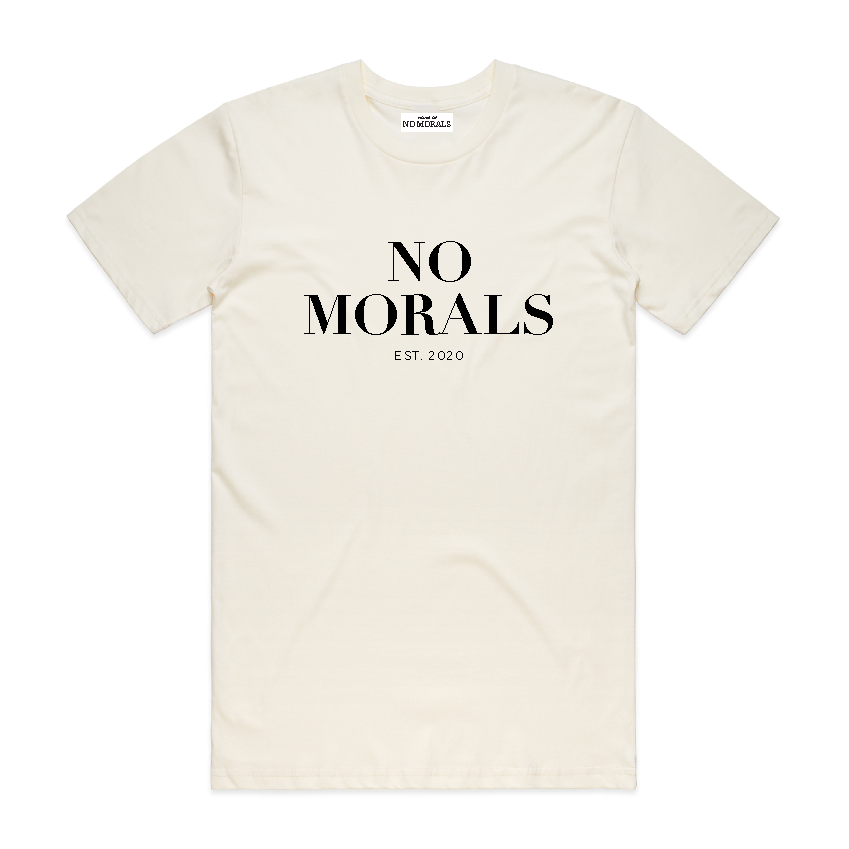 "NO MORALS - ""O.G TEE"" - [Milk]"