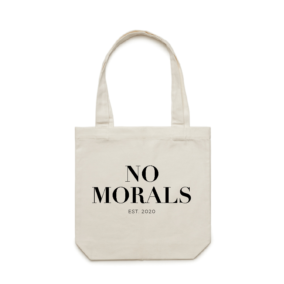 NO MORALS - Natural Tote