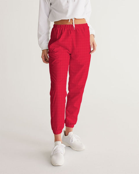 Red Checked Women's Track Pants