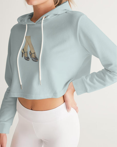 High Heels Women's Cropped Hoodie