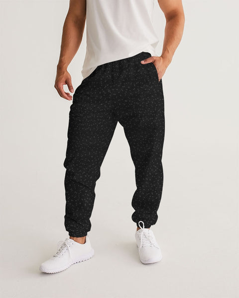 Black Specked Men's Track Pants