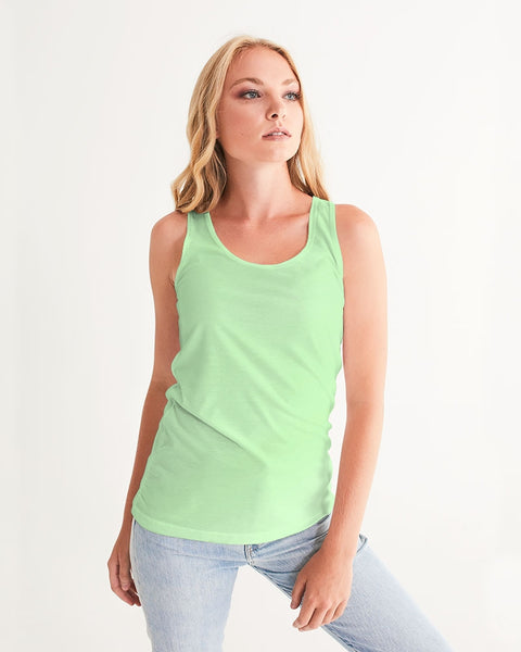 Solid Pastel Green Women's Tank