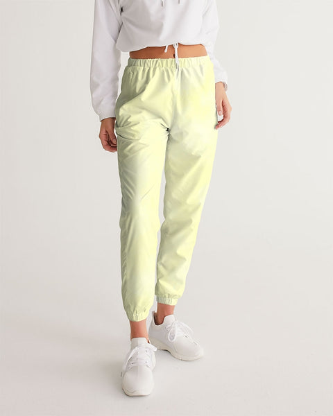 Clouds Pastel Yellow Women's Track Pants