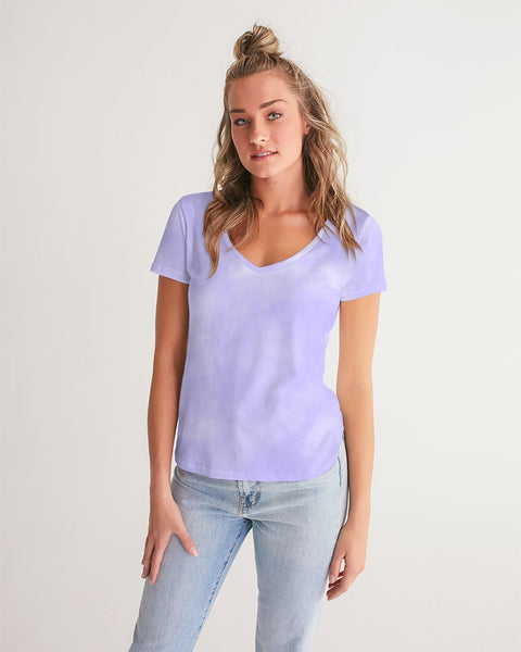 Clouds Pastel Purple Women's V-Neck Tee